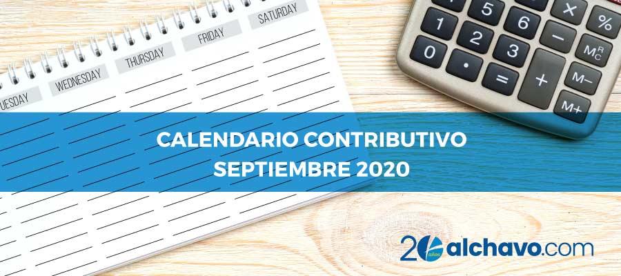 calendario contributivo 2020 septiembre